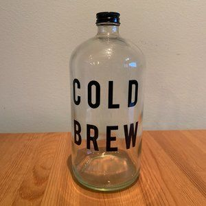 glass cold brew coffee jar - approx 32 ounces